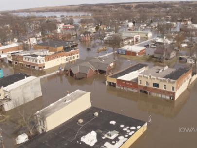 Image of a flooded town.